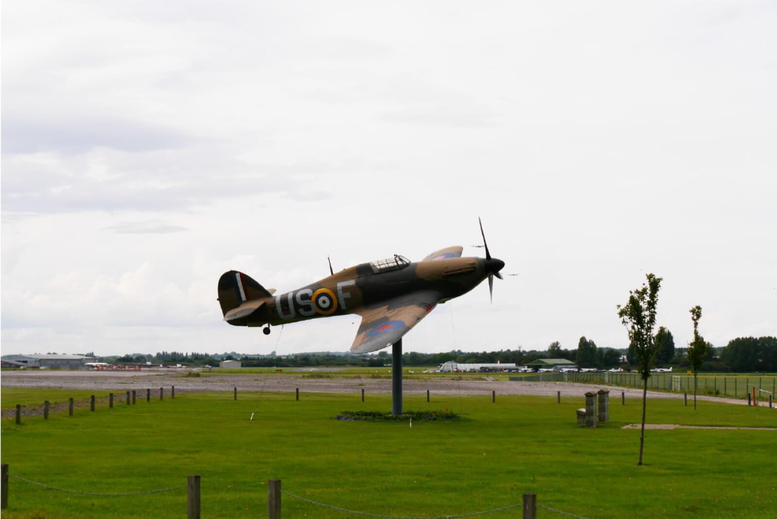 North Weald Airfield Gate Hurricane replica